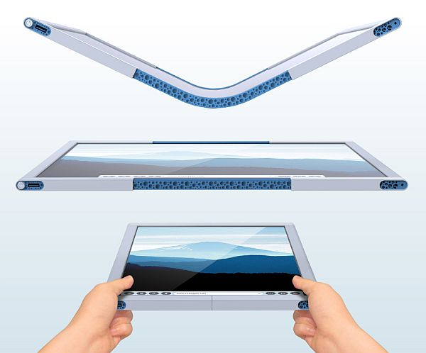 flex collapsible tablet pc