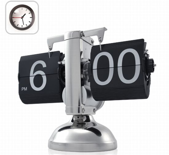 flip down retro steampunk clock 1