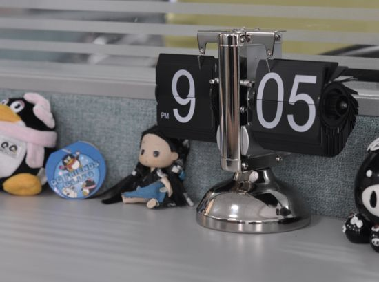 flip down retro steampunk clock 9