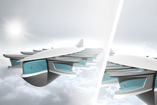 flying apartment system for year 2060