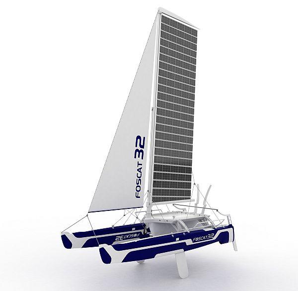 foscat 32 folding solar catamaran 05