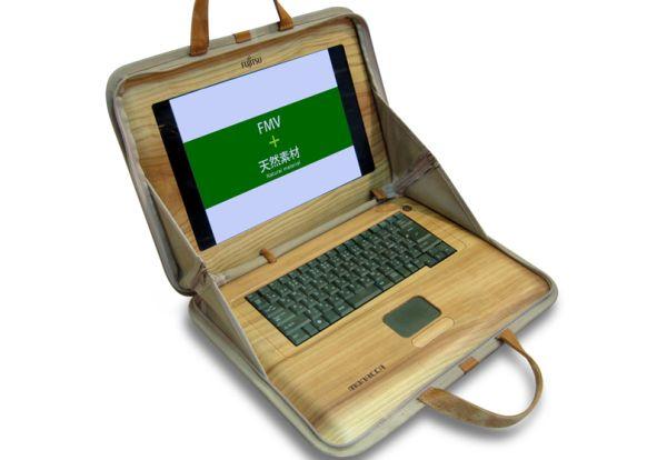 Fujitsu Wooden Laptop