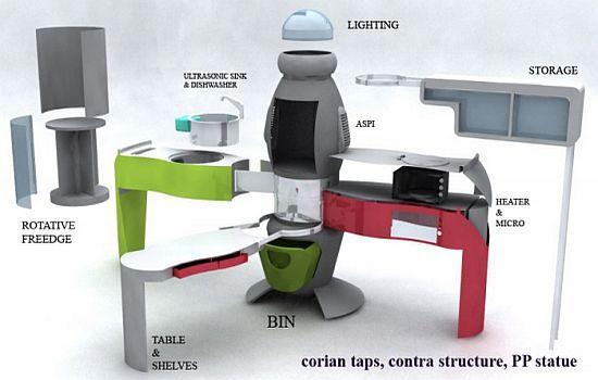 futuristic kitchen concept from aslihan yilmaz