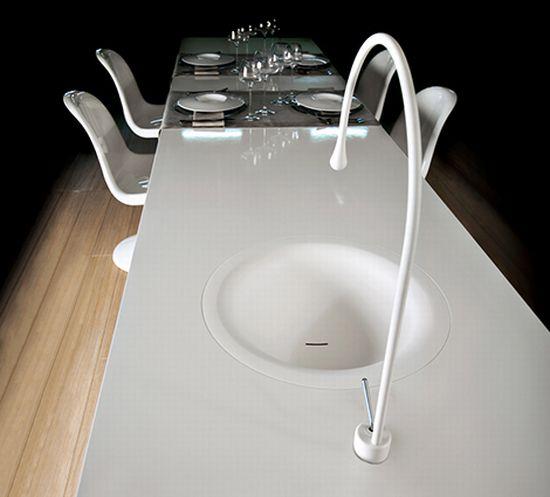 goccia kitchen faucet by gessi