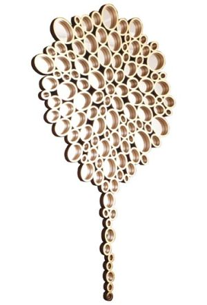 gold rings tree mirror