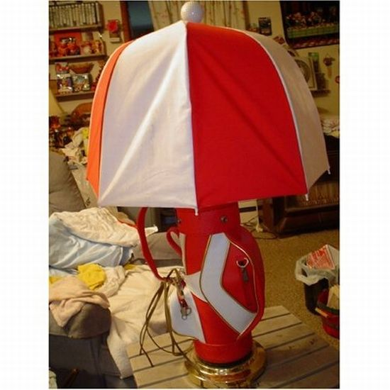 golfbag sport novelty lamp