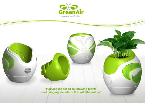 Greenair grows living plants for natural air purification for Product design singapore