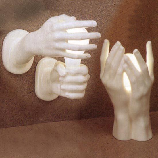 hands lamps