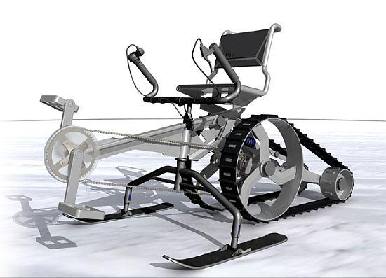 human powered snow vehicle 01
