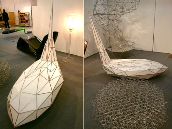Origami chaise lounge by jo han yong designbuzz for Chaise origami