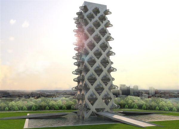 kinetower metamorphic skyscraper