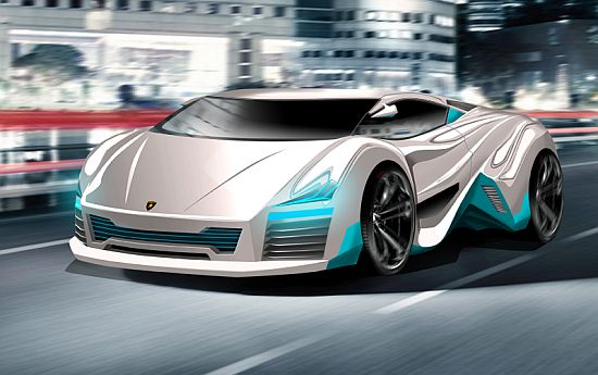 lamborghini rompighiaccio all electric concept car