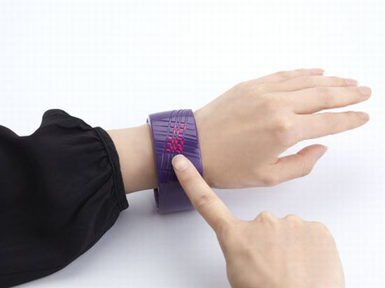 madokadoke bracelet led watch