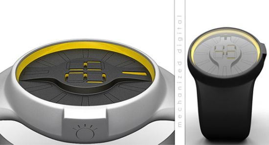 mechanized digital watch 02