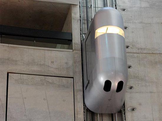 mercedes benz museum elevator