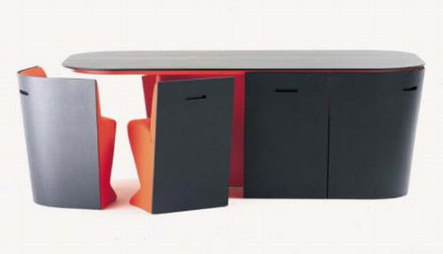 mesa y sillas compacto bernini