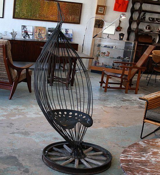 metal sculptural chair