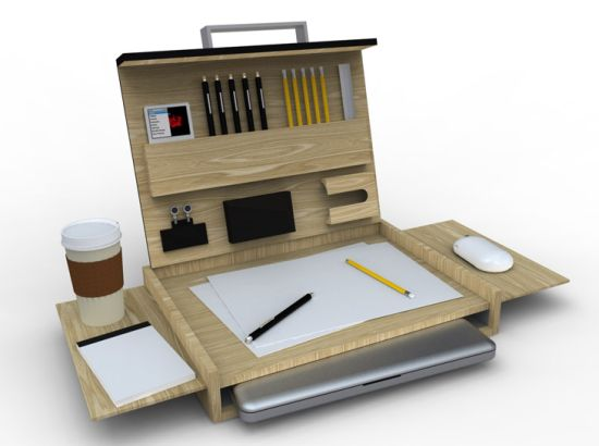 lavoro mobile workstation to work on your macbook on the go designbuzz. Black Bedroom Furniture Sets. Home Design Ideas