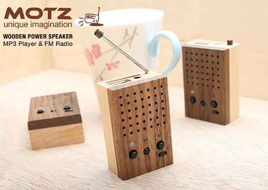 motz tiny wooden power speake