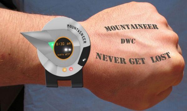 Mountaineer digital compass wrist watch