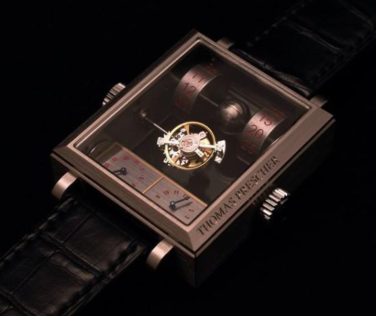 mysterious automatic double axis tourbillon