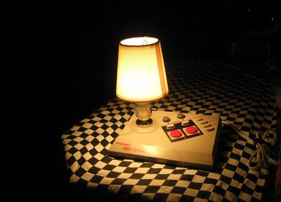nes advantage joystick desktop lamp