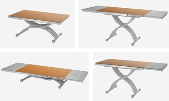 Ozzio transformable tables use them the way you want for Table transformable conforama