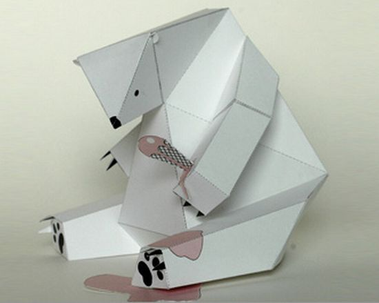 paper polar bear