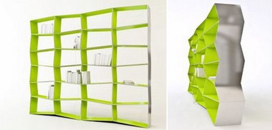 parallax and surfacer bookshelves from zaum
