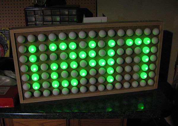 ping pong ball clock