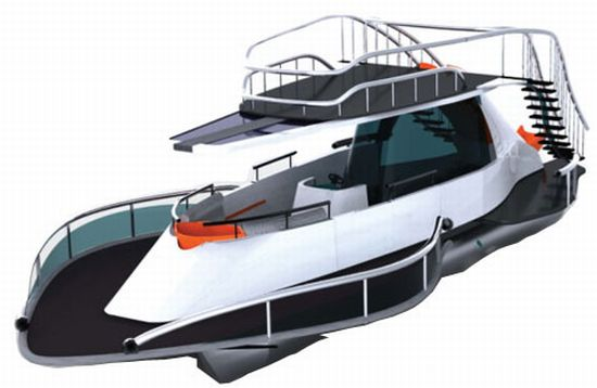 Pontoon Solar-powered Party Boat is inexpensive yet luxurious ...