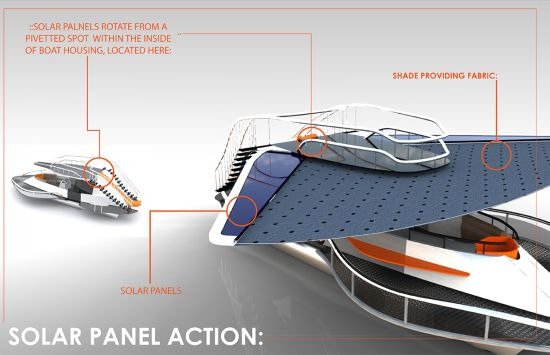 Pontoon Solar-powered Party Boat is inexpensive yet luxurious