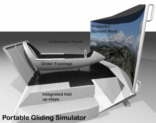 portable gliding simulator 01
