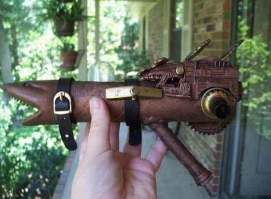 Steampunk Gun Crafted From Household Waste Has Surefire