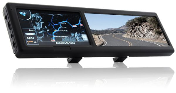 rear view mirror with gps bluetooth