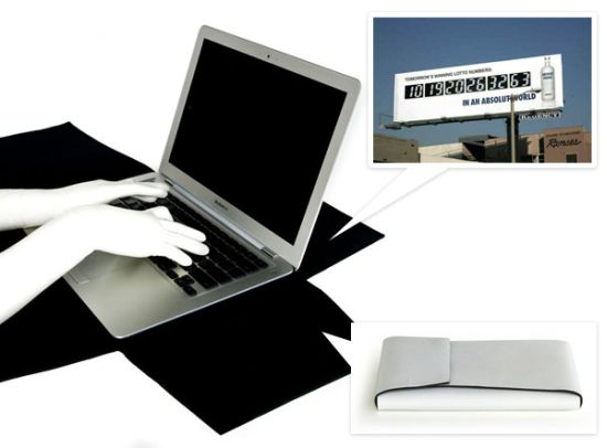 recycled billboard laptop case