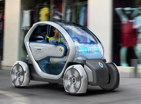 renault twizy z e car is an electric alternative to the scooter designbuzz. Black Bedroom Furniture Sets. Home Design Ideas
