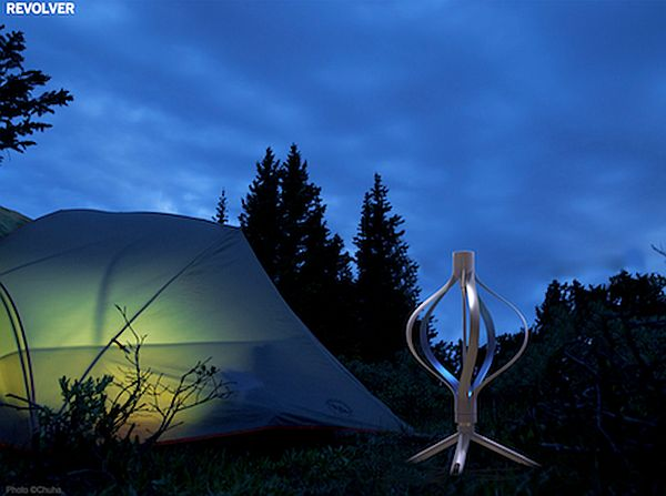 Revolver, portable wind turbine