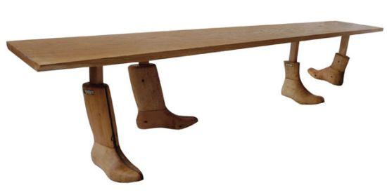 salvaged wood bench