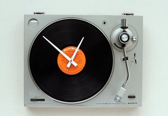 sanyo turntable clock