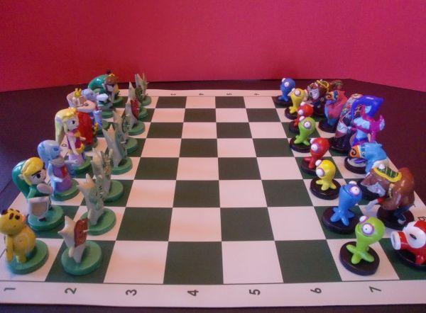 Sculpted Zelda Chess Set