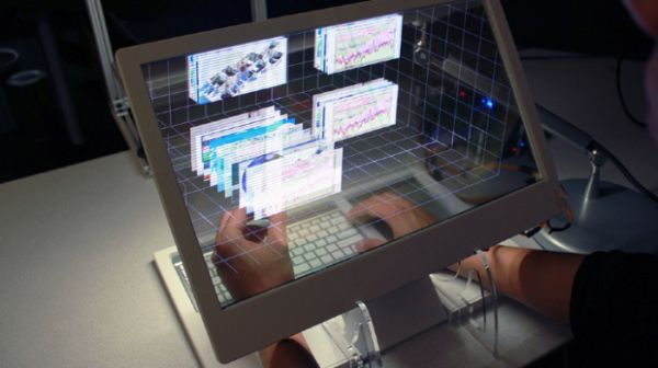 See-Through 3D Desktop