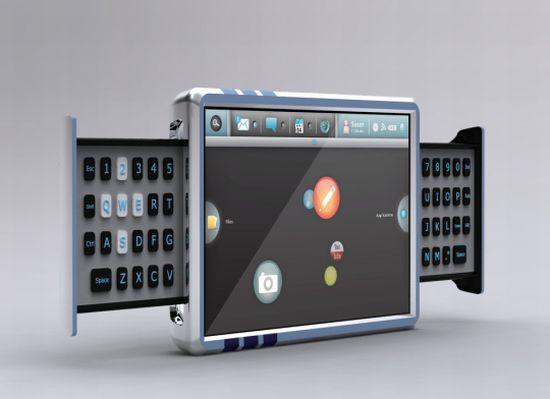 side slide keyboard design