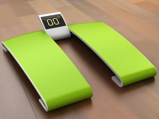 silhouette weighing scale
