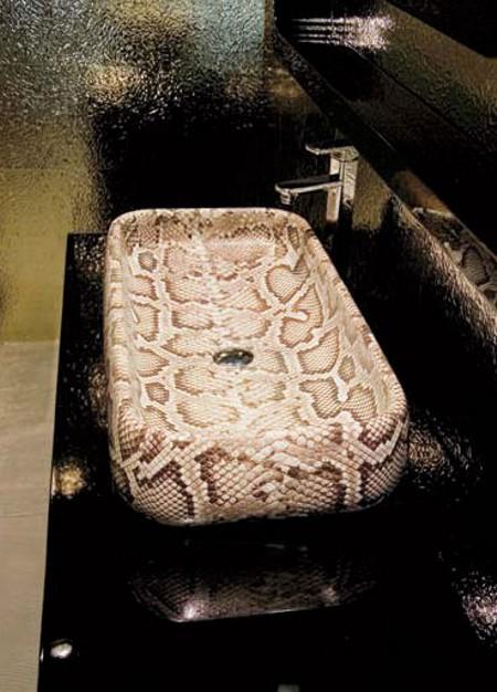 snake skin basin