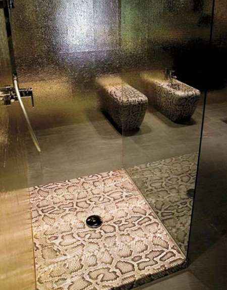 snake skin shower base