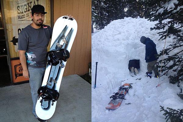 Snowboard built for survival
