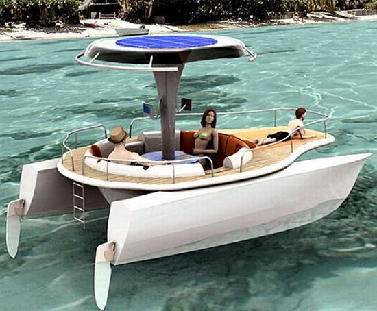 solar cum human powered concept boat 3
