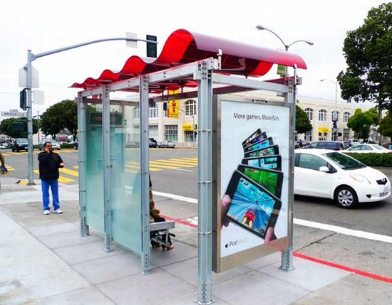 solar powered bus shelter 1