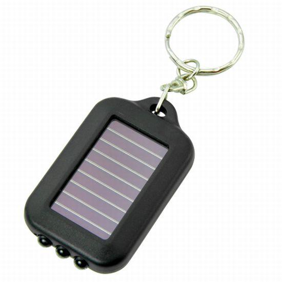 solar powered keychain led light 2